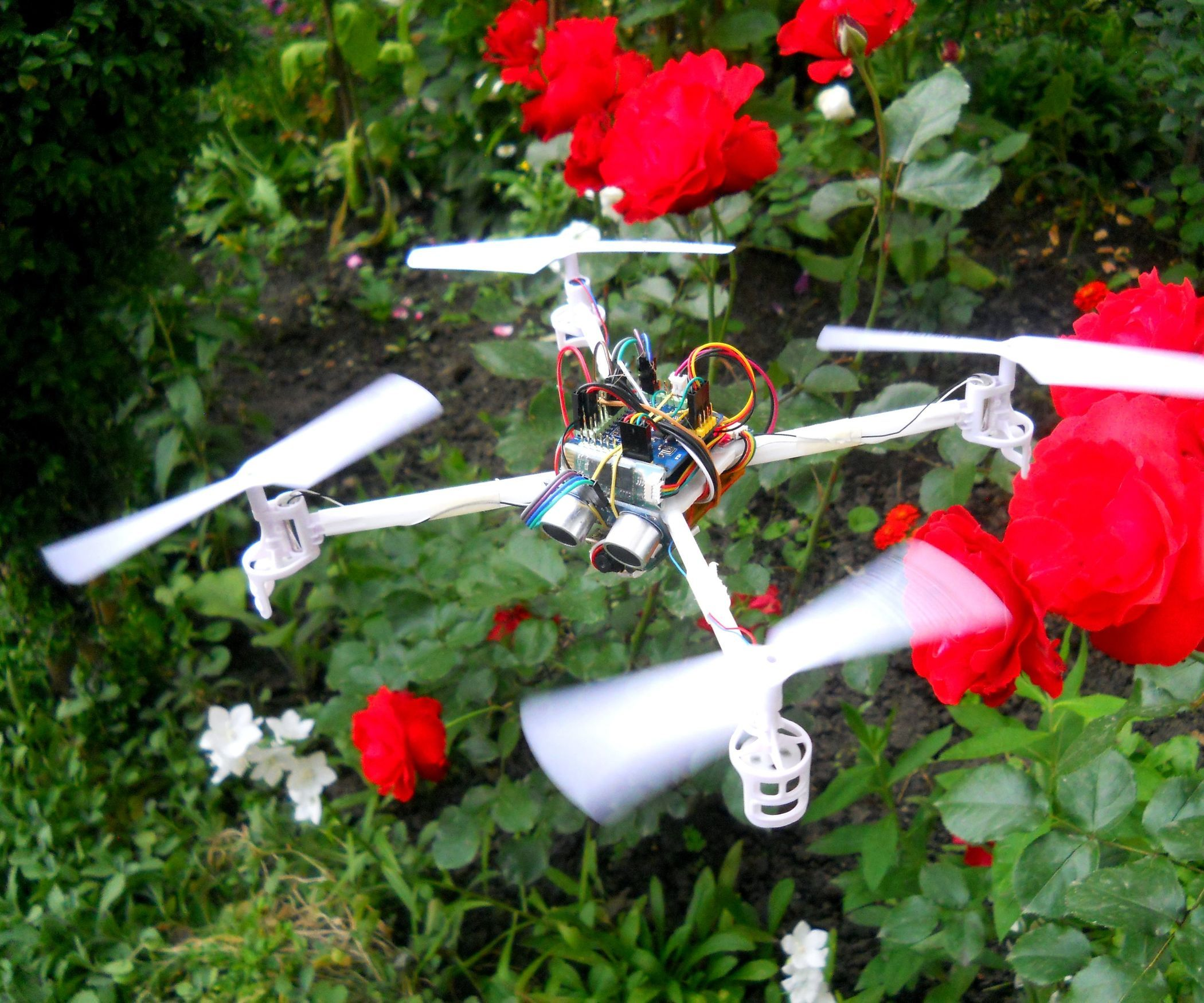 Drones are very popular toys and tools these days. You can find professional and even beginner drones and flying gadgets in the market. I have four drones (quadcopters and hexcopters), because I love everything that flies, but the 200th flight isn't so interesting and starts to be boring, so I decided that I will build my own drone with some extra feutures. I like to program Arduino and design circuits and gadgets so I started to build it. I used the MultiWii flight controller that is based o...