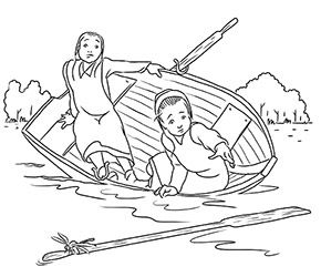 amish coloring pages - Amish Children Coloring Book Pages