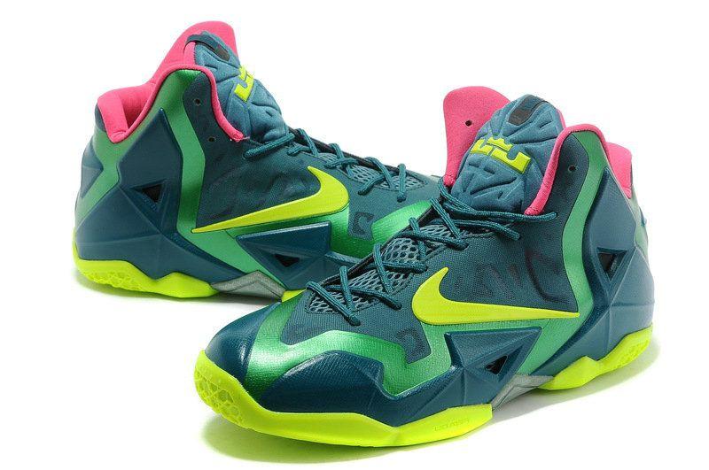 brand new 3d4e0 58c7e ... australia womens lebron 11 t rex turquoise lime green 34dc7 1a86d