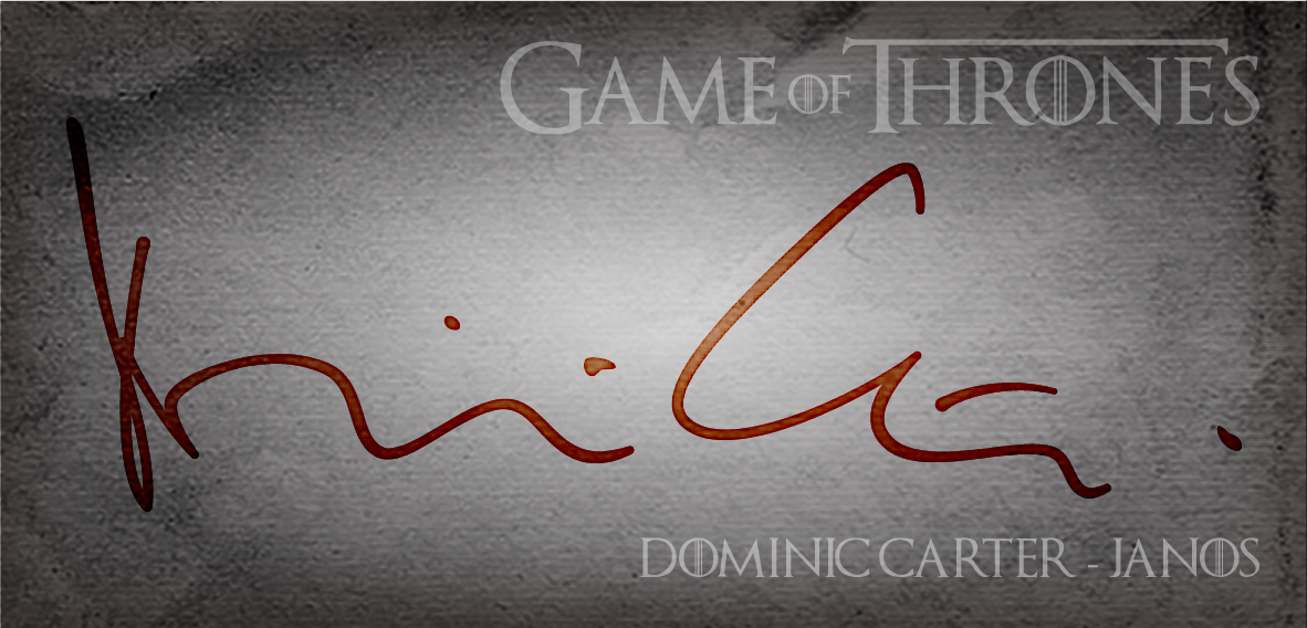 Dominic Carter Game Of Thrones