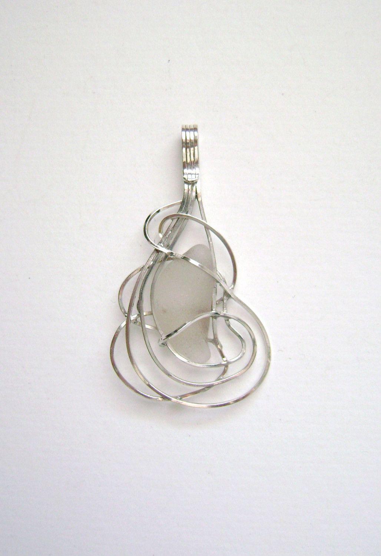 Salea glass jewelry sterling white sea glass pendant 4875 salea glass jewelry sterling white sea glass pendant 4875 aloadofball Gallery