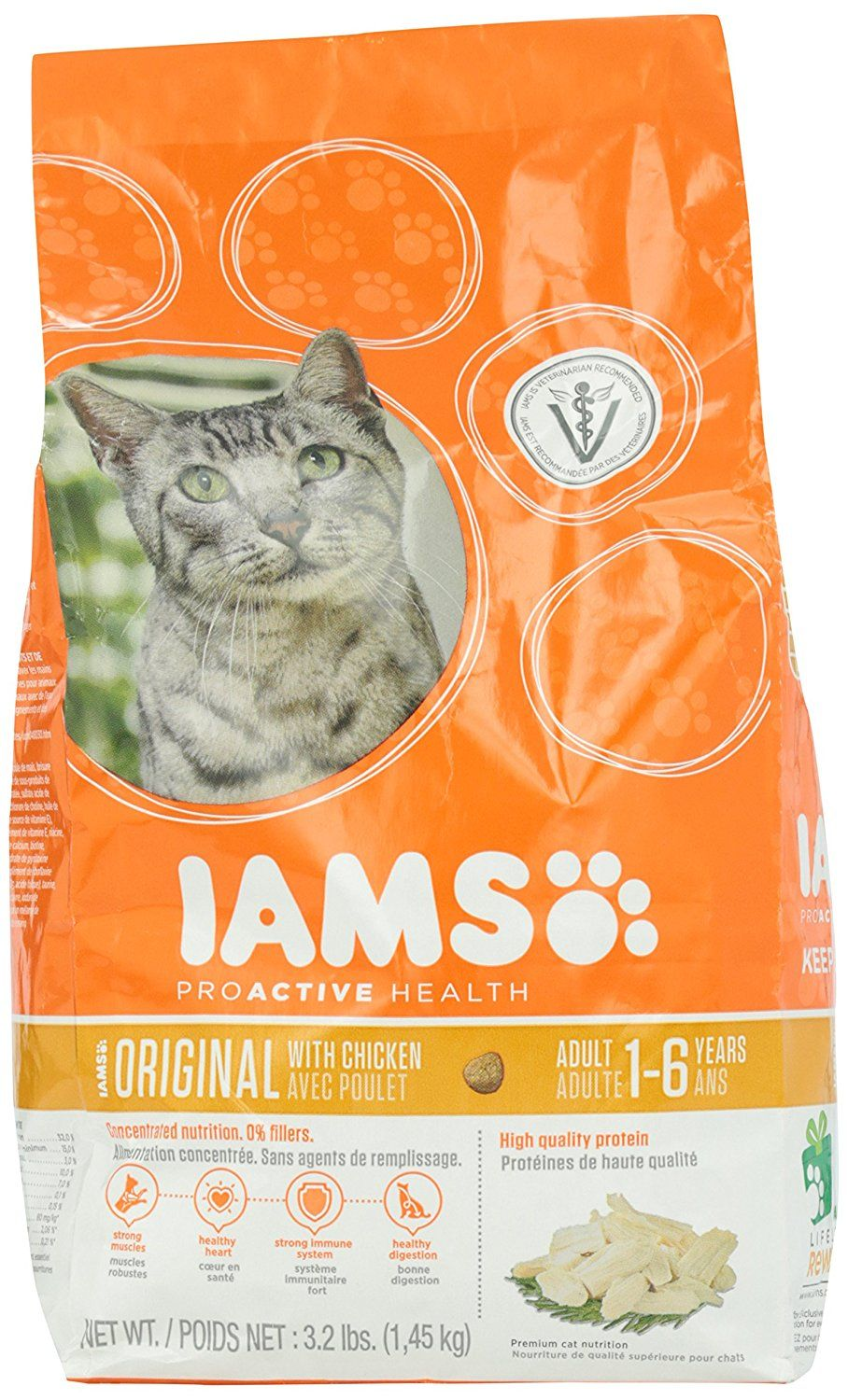Iams Original Formula Dry 1 6 Years Old Cat Food 3 2lbs Cats Food Cat Food Best Cat Food Dry Cat Food