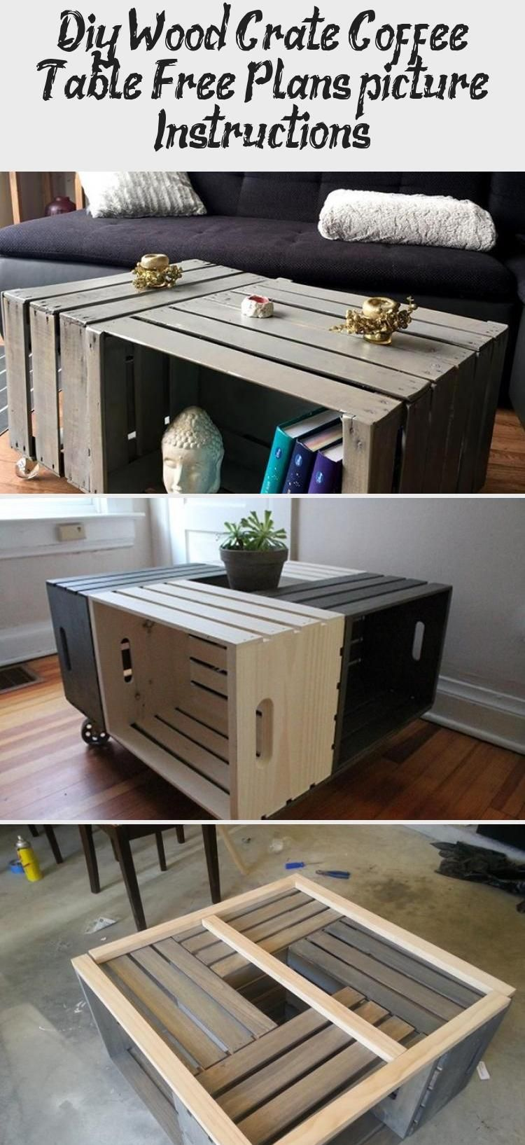 Diy Wood Crate Coffee Table Free Plans [picture Instructions] - Wooden World - Woodworks