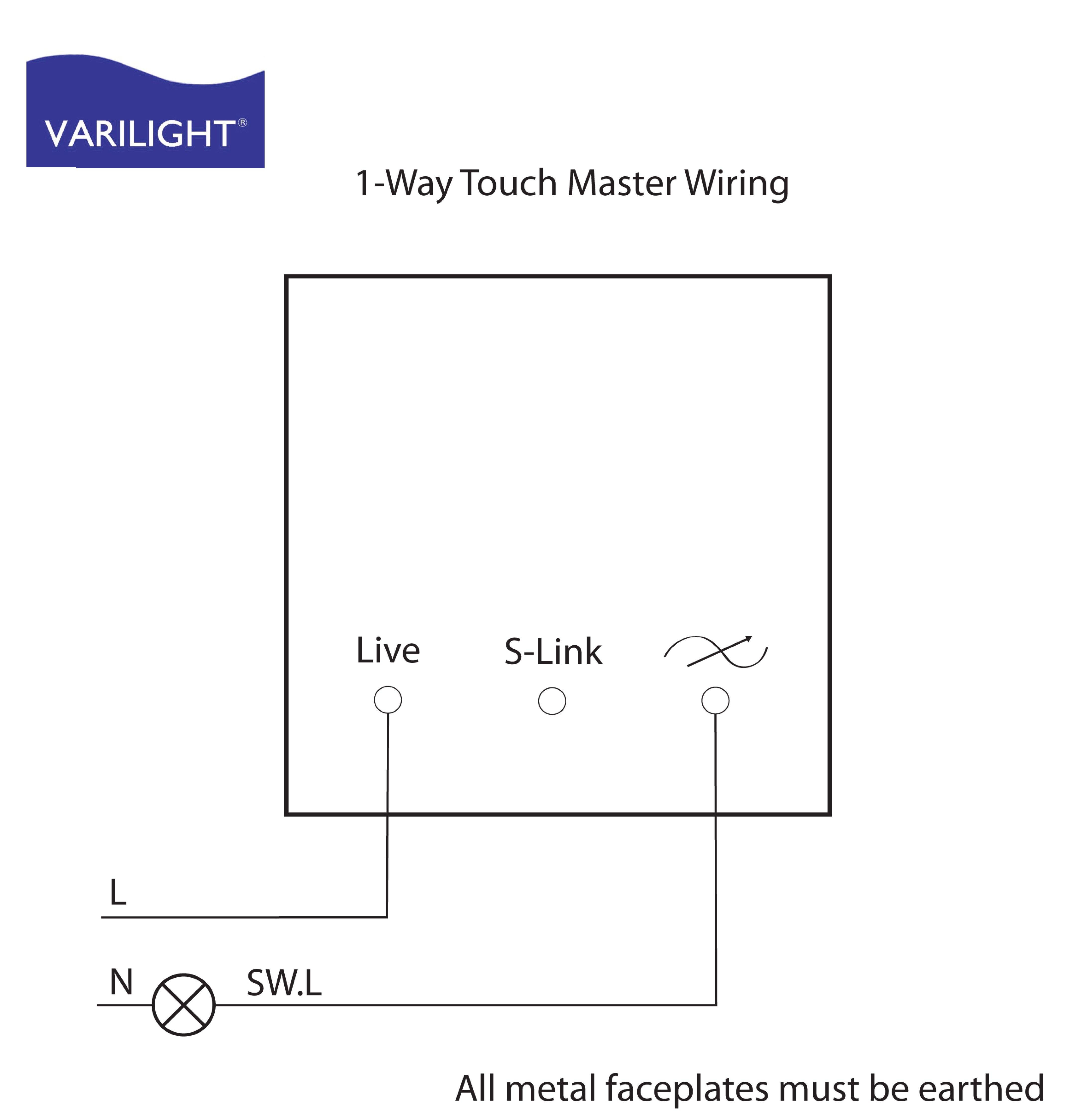 Single Pole Dimmer Switch Wiring Diagram Uk