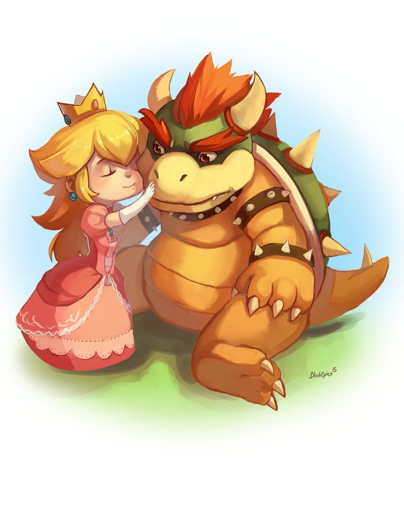 Peach and Bowser by BloodnSpice | True Love | Pinterest | Bowser ...