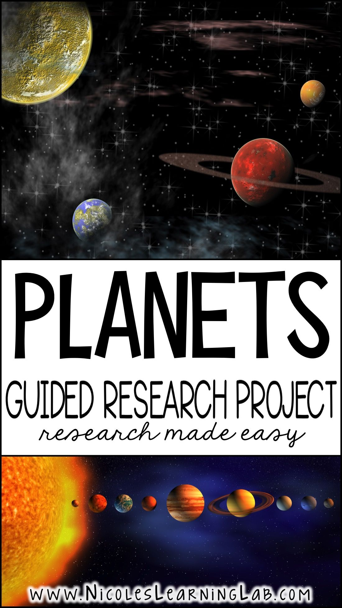 Planets Guided Research Project Solar System