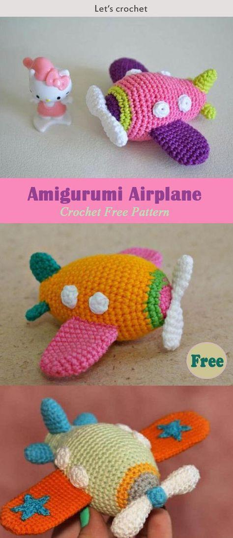 Amigurumi Airplane Crochet Free Pattern | tejido | Pinterest ...