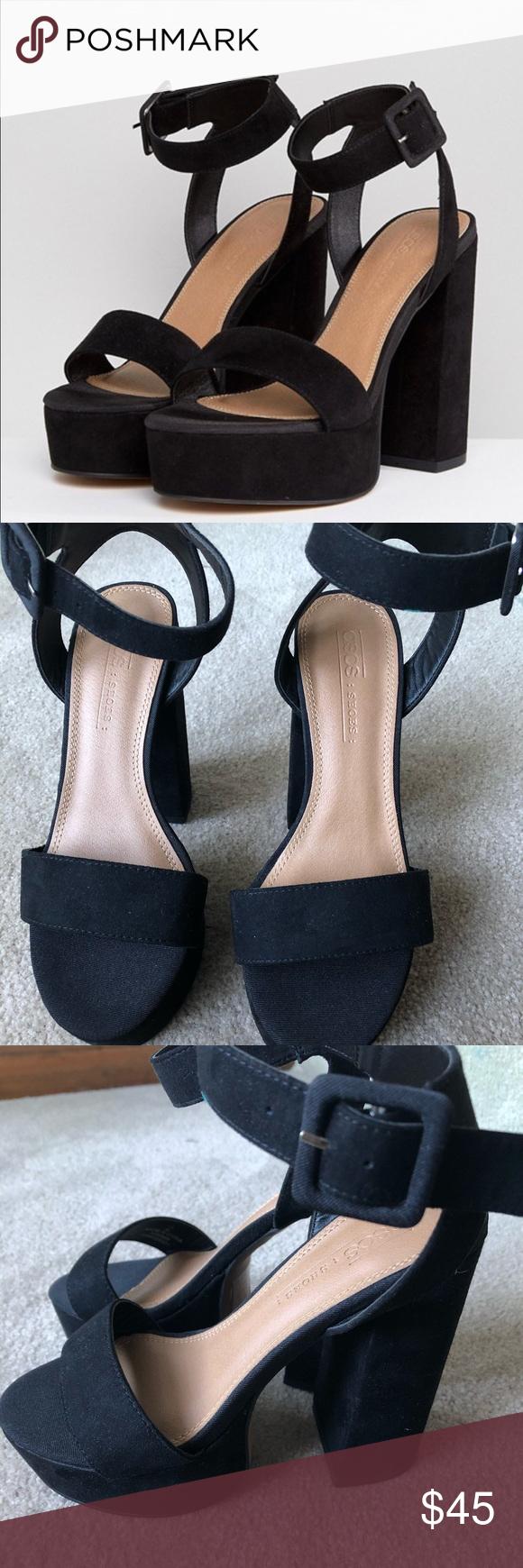 ASOS black block heels in 2020 | Black