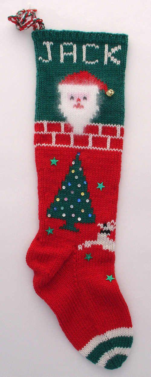 Small Angora Santa Christmas Stocking