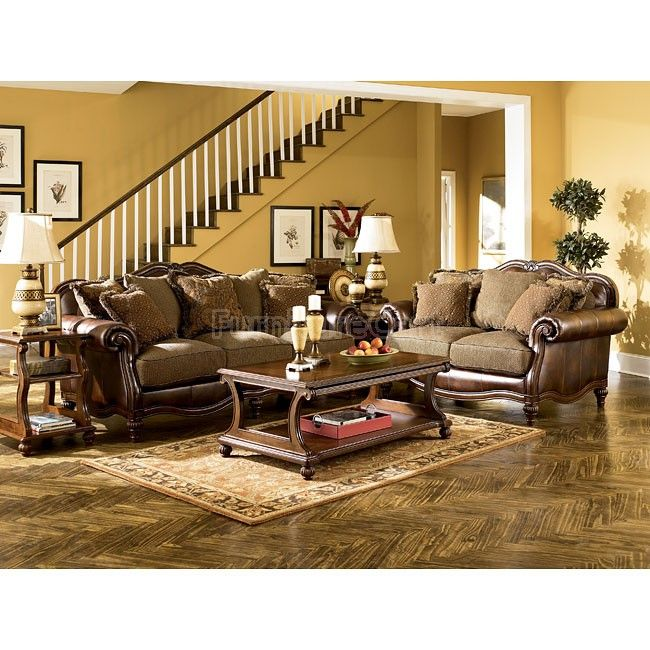 Ashley Furniture Toledo: Claremore - Antique Living Room Set In 2019
