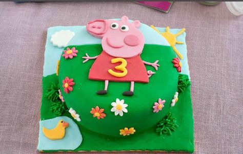 Peppa Pig Cake Recipe Peppa Pig Cake Peppa Pig Birthday Cake Pig Birthday Cakes
