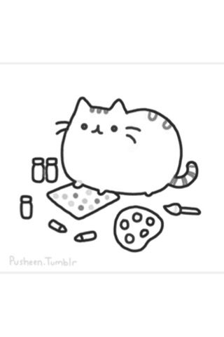 Pin By Cynthia On Digi Stemp Pusheen Coloring Pages Pusheen Cute Cat Coloring Page