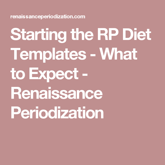 Starting The Rp Diet Templates What To Expect Losing Fat Gaining