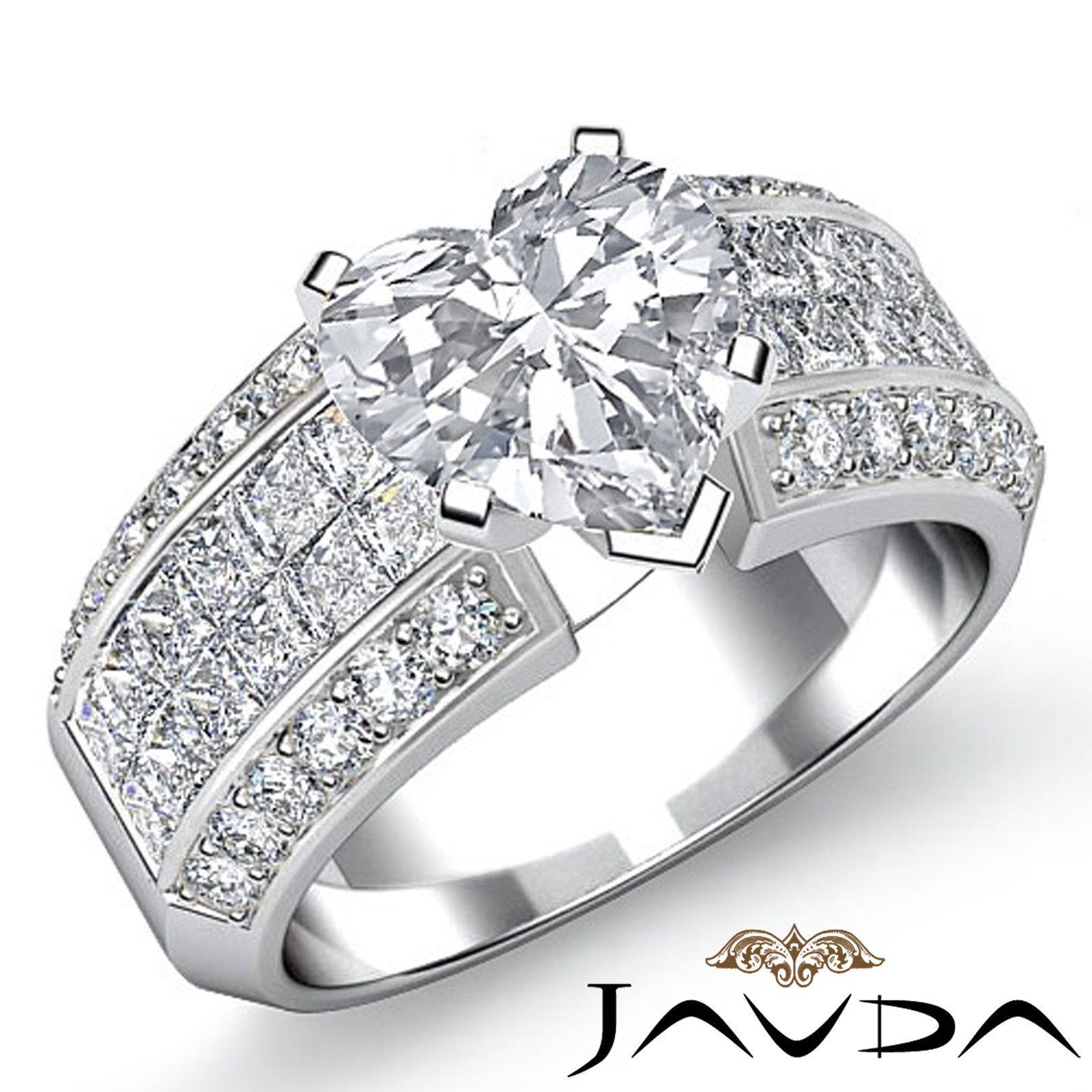 Exquisite Heart Diamond Invisible Set Engagement Ring EGL G VS2 Platinum 2 46 Ct | eBay