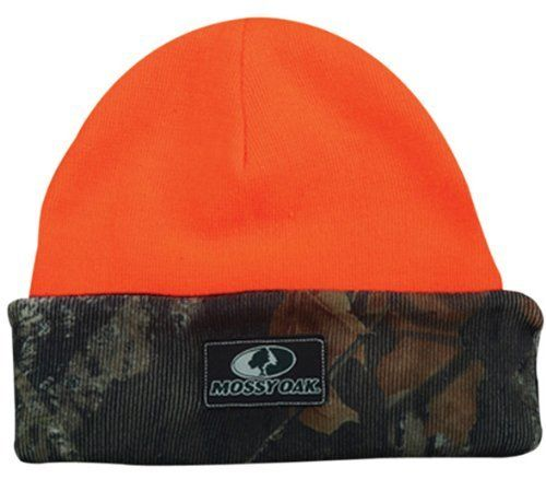 Mossy Oak Reversible Knit Watch Cap with Cuff   Cold Weather Beanies Hunting  Hat d9ee19fbe35