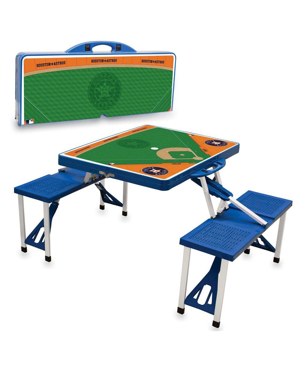 Superb Houston Astros Portable Picnic Table U0026 Seats