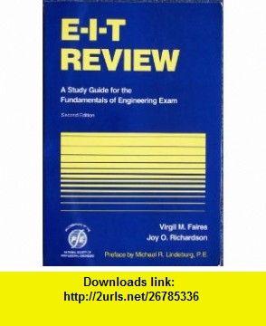 e i t review a study guide for the fundamentals of engineering exam rh pinterest com fe exam study material fe exam study guide free pdf