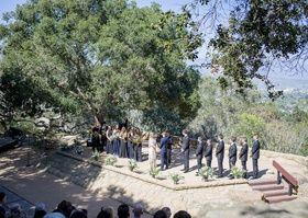 Outdoor Ceremony at Santa Barbara Park |   Photography: Willa Kveta Photography.   Read More:  http://www.insideweddings.com/weddings/romantic-outdoor-bohemian-chic-wedding-at-a-santa-barbara-park/755/