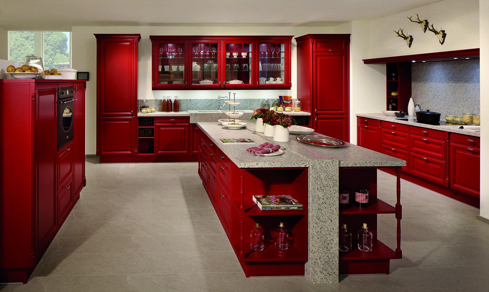 Cuisine Stormer Style Vintage Ton Rouge Cuisines équipée - Stormer cuisine