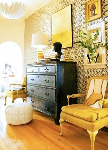 Love an accent wall paper bec scupham designing my home also best images decor homes house rh pinterest