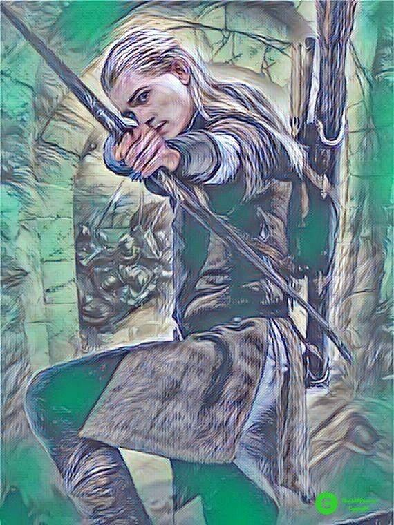 Legolas painting | Legolas, Thranduil, Anime