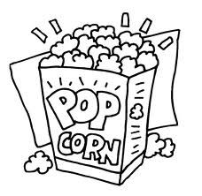 Movie Night Food Coloring Pages Free Coloring Pages Colored Popcorn
