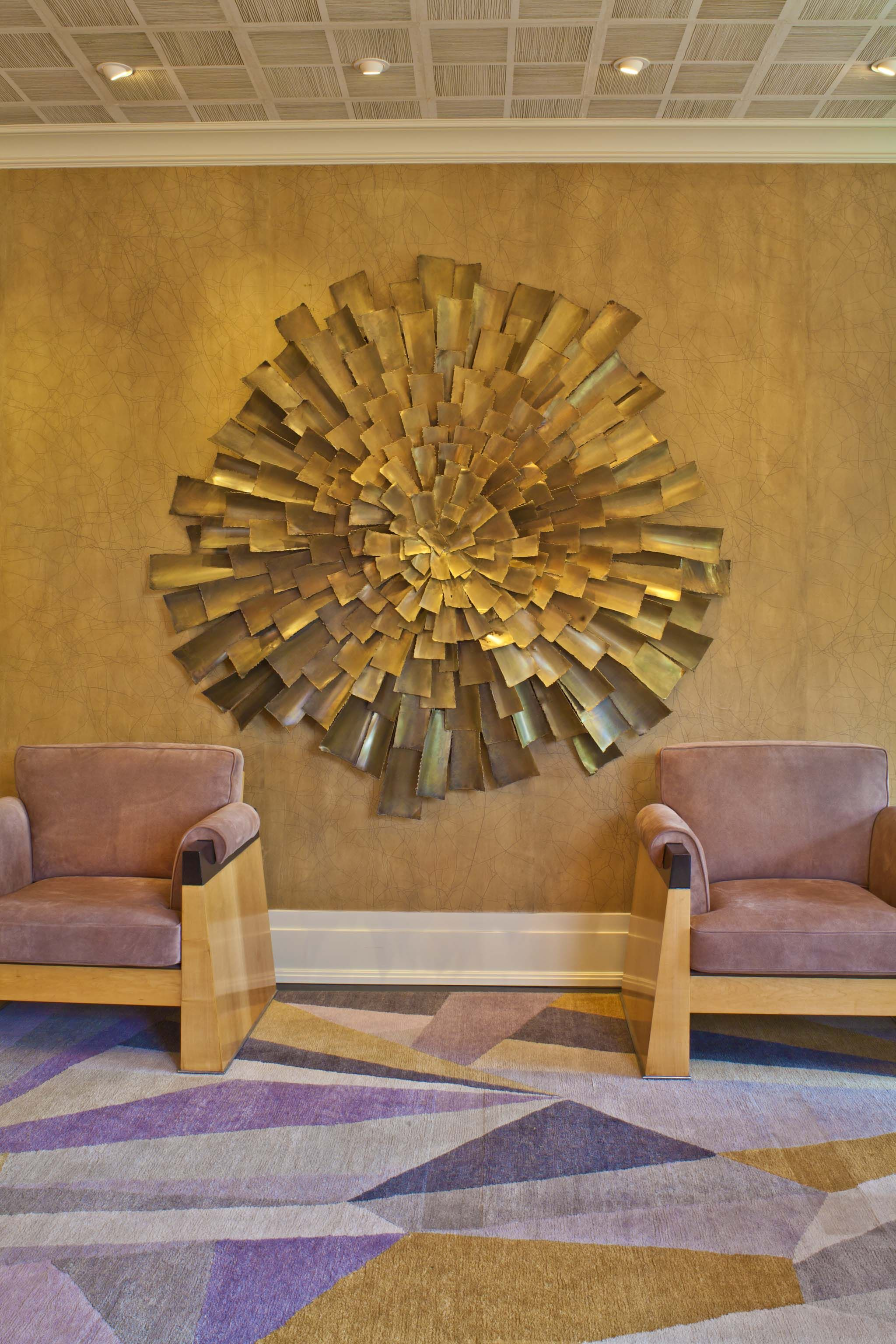 More Fabrics Loves This Gold Nd Blush Interior By Kelly Wearstler. Living  Room Of Bellagio Residence.