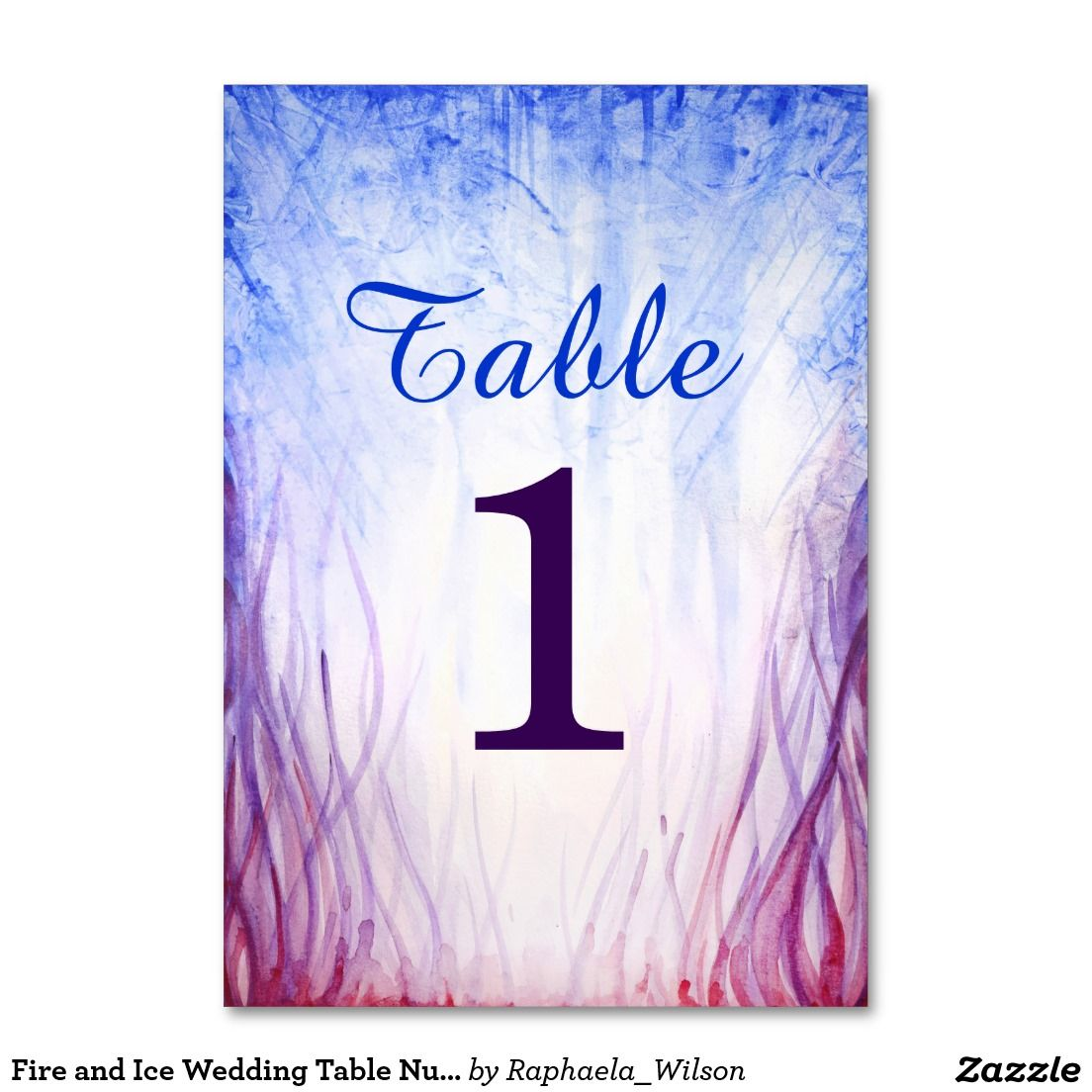 Fire and Ice Wedding Table Number Cards | Pinterest | Wedding tables ...