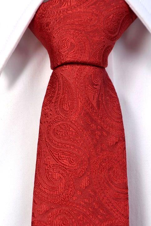 Kapea solmio, punainen paisley