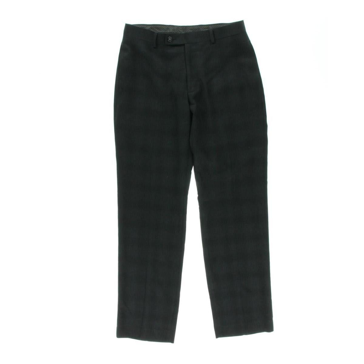 Calvin Klein Mens Slim Fit Plaid Dress Pants