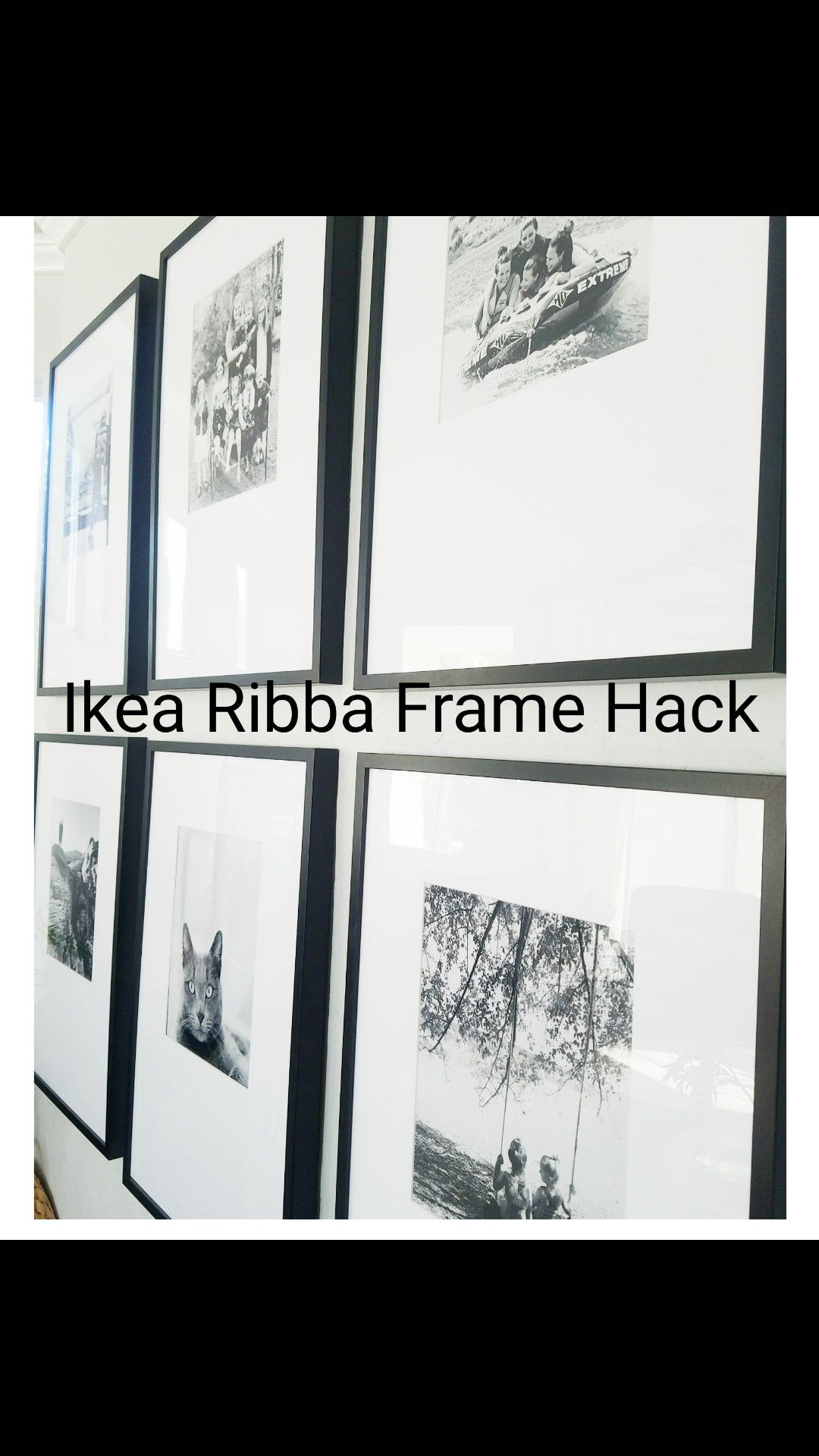 Ikea Ribba Frame Hack Offset Mat Photo Wall Gallery Wall Photo Wall Gallery Ikea Gallery Wall Gallery Wall Frames