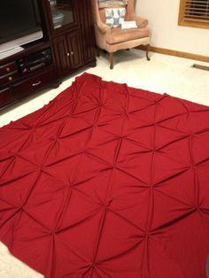 Easy DIY Pintuck Duvet Cover | imagine backwards