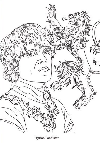 Tyrion Game Of Thrones Coloring Page Coloring Pages For Grown Ups Coloring Books Coloring Pages