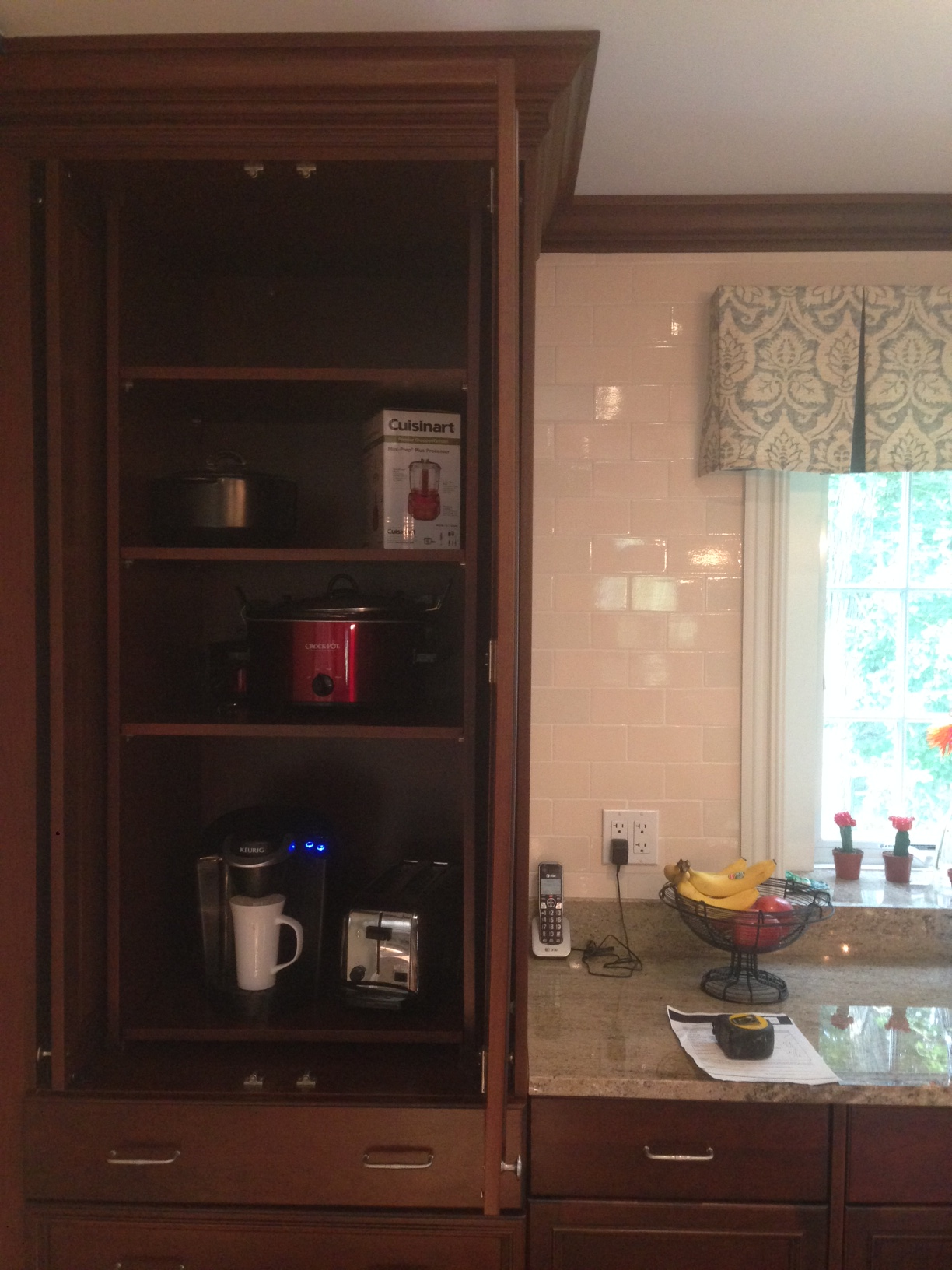 Pantry and appliance garage with pocket doors (With images ...