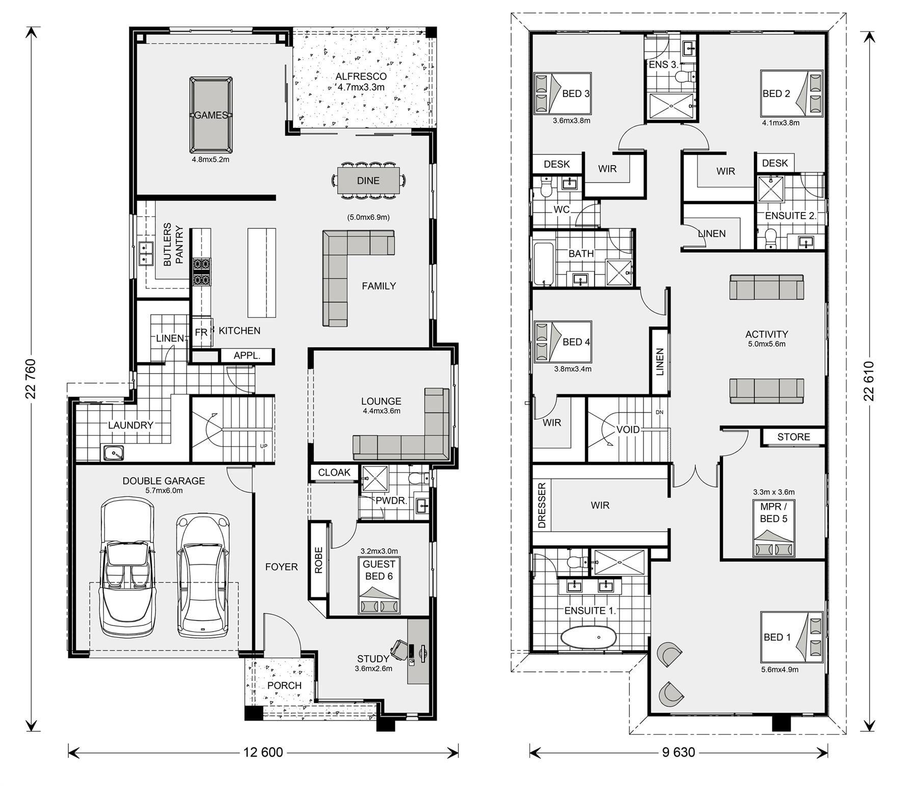 Manhattan 247 Design Ideas Home Designs In G J Gardner Homes Double Storey House Plans 6 Bedroom House Plans Family House Plans