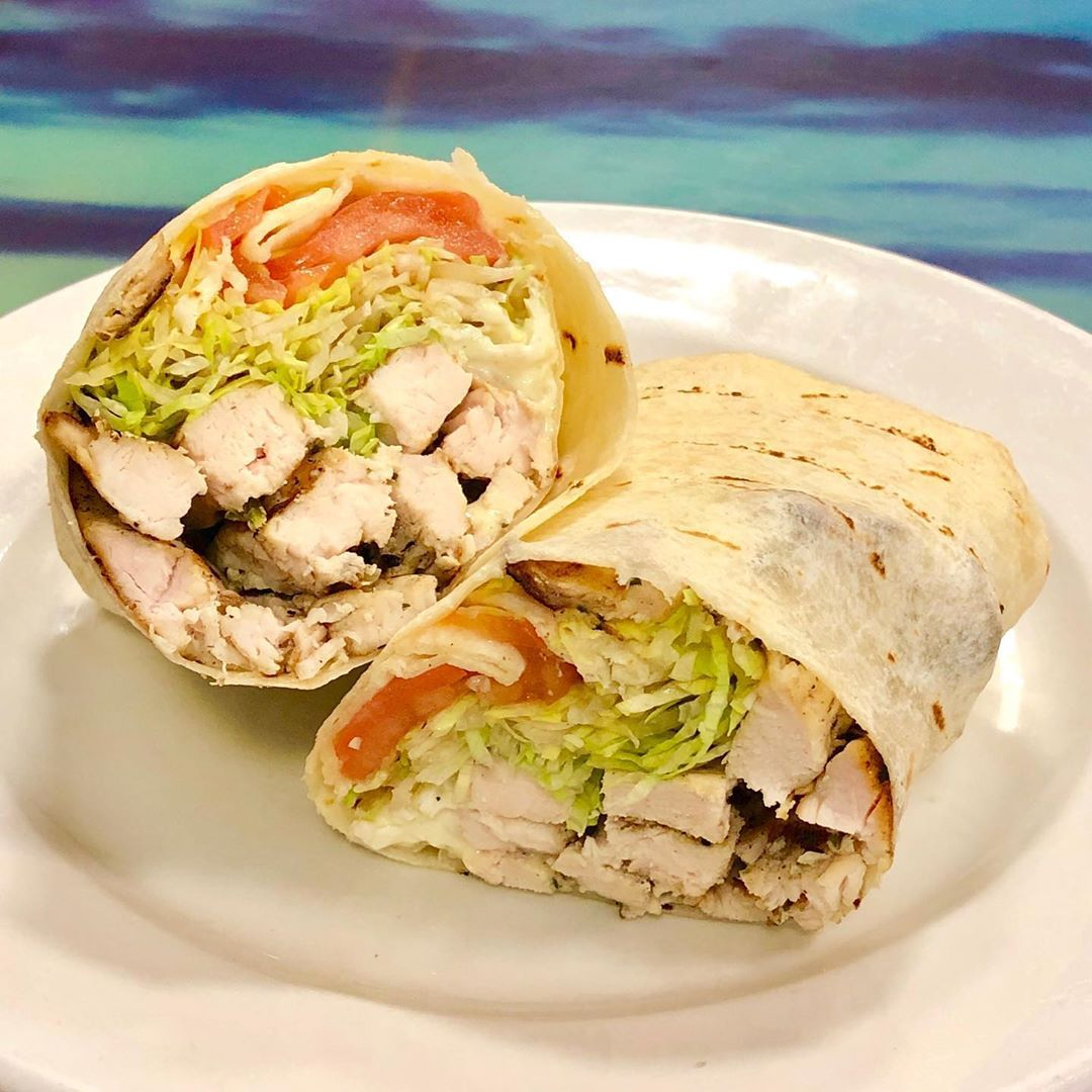 Grilled Chicken Wrap from Anthony Franco's. @anthonyfrancospizza