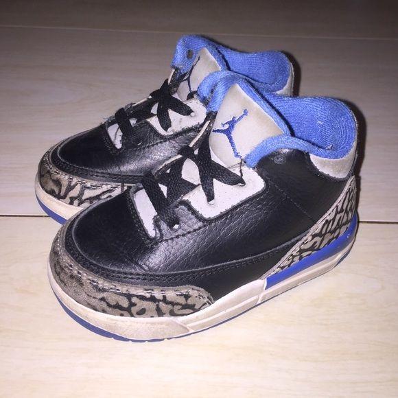 jordan retro 3 sport blue toddler