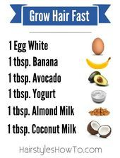 Hair care Ideas  Grow hair longer faster with this super powerful hair mask using natural in Hair care Ideas  Grow hair longer faster with this super powerful hair mask u...