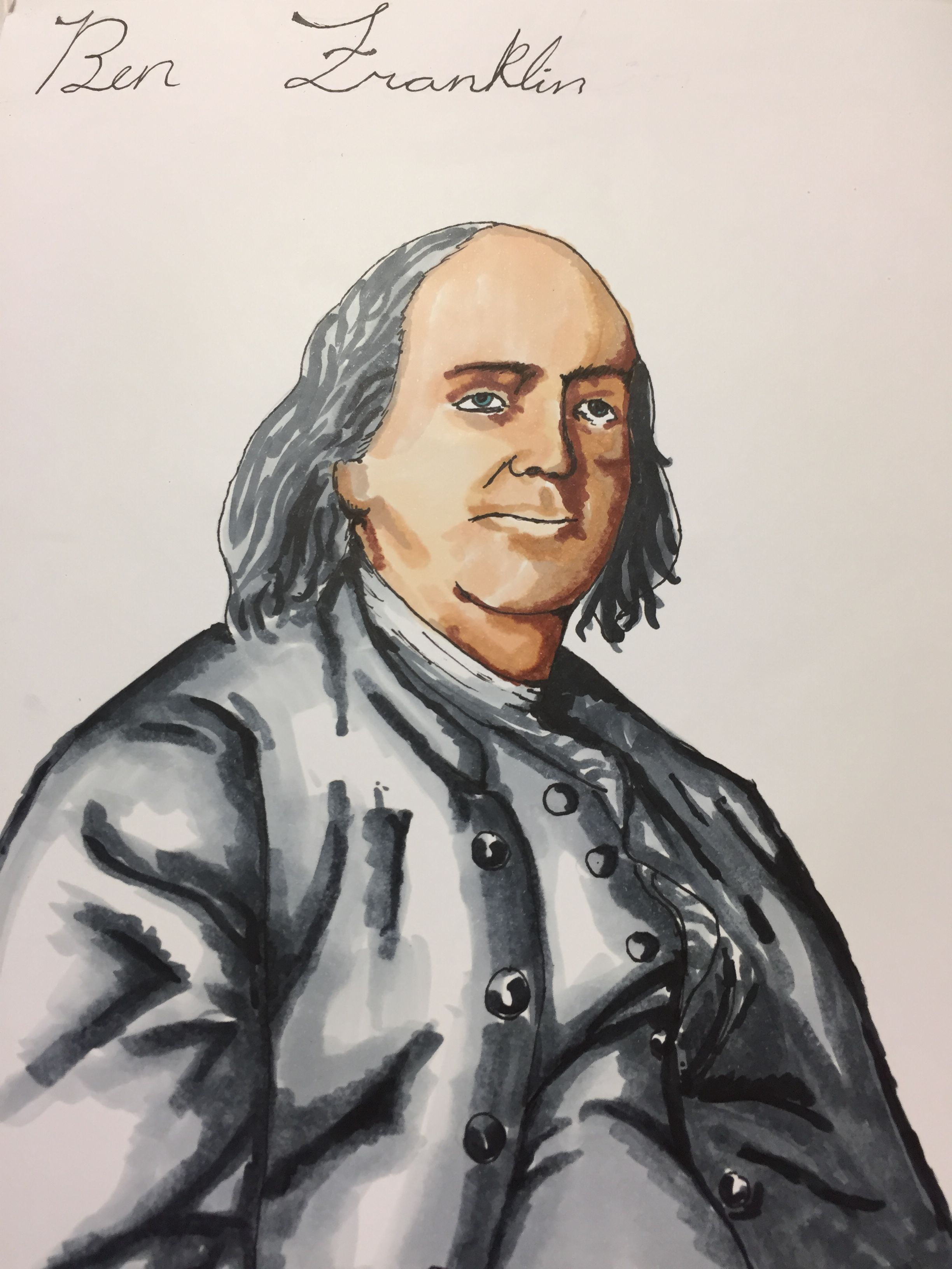 Ben Franklin Student Art With Images