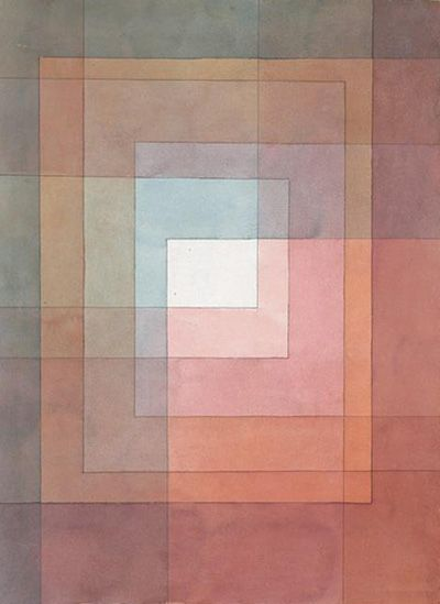 Living Room Decorating Ideas For Apartments For Cheap: White Framed Polyphonically By Paul Klee. Art Experience