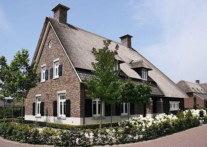 Boerderij villa met rieten dak huizen pinterest huizen mooie