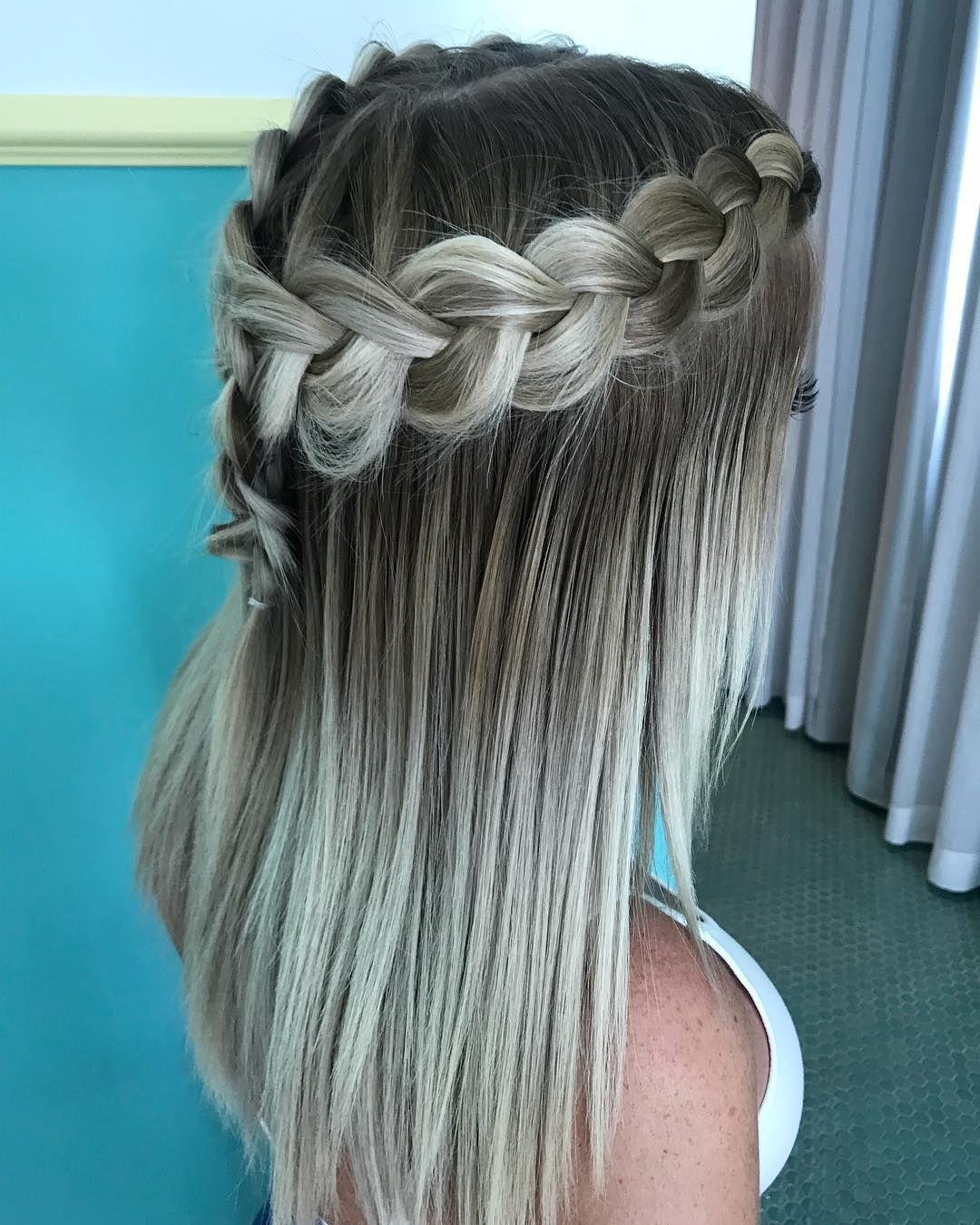 Easy and very cute straight hair design kylieus pinterest