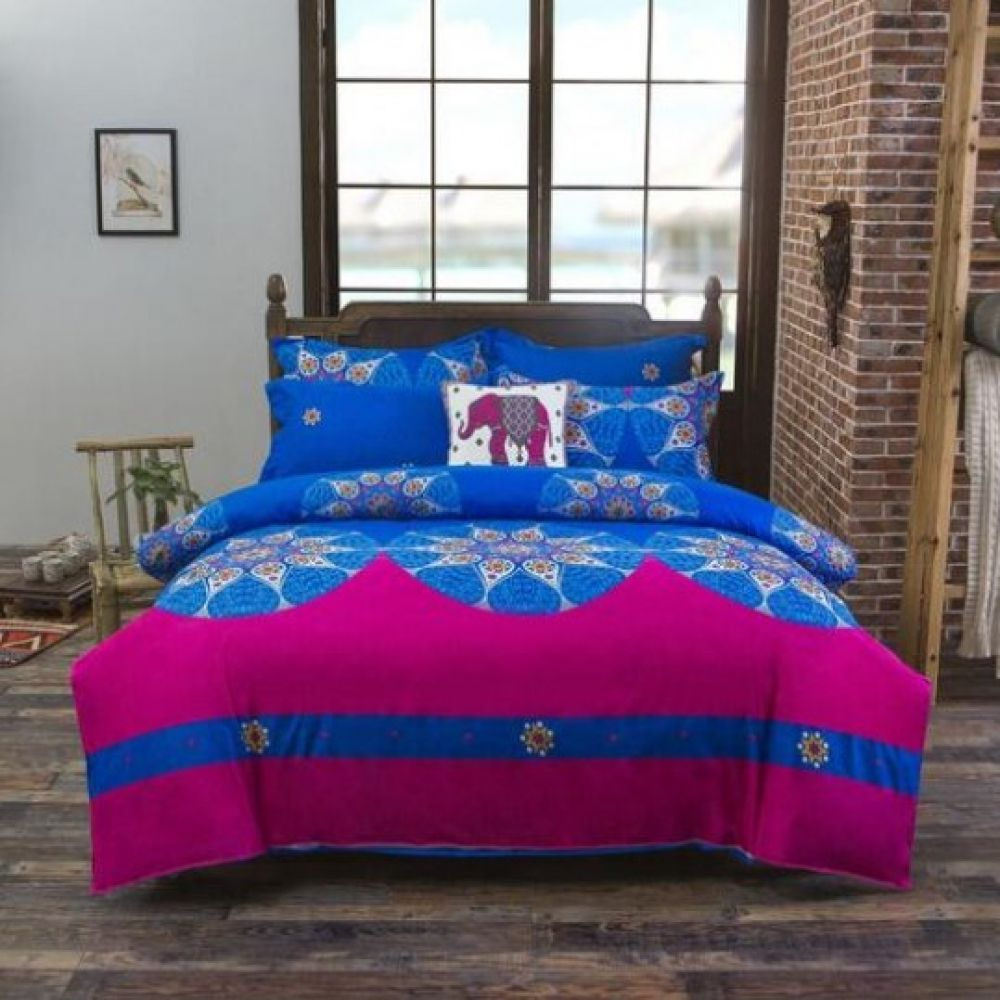 Bohemian Style Pattern Cotton Bedding Set Mandala duvet
