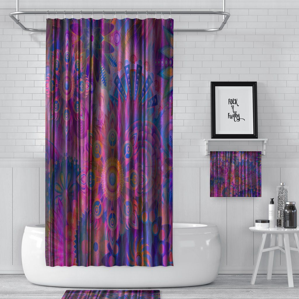 My Hippie Soul Shower Curtain Bath Towel Set Curtains Large