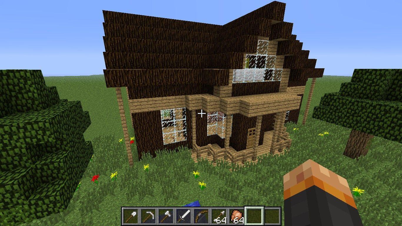 Wow  Minecraft Log Cabin