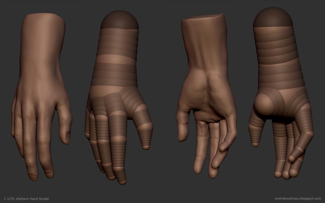 Andre Boudreau: zSphere Hand Sculpt - 2 1/2h | 3D tutos | Pinterest