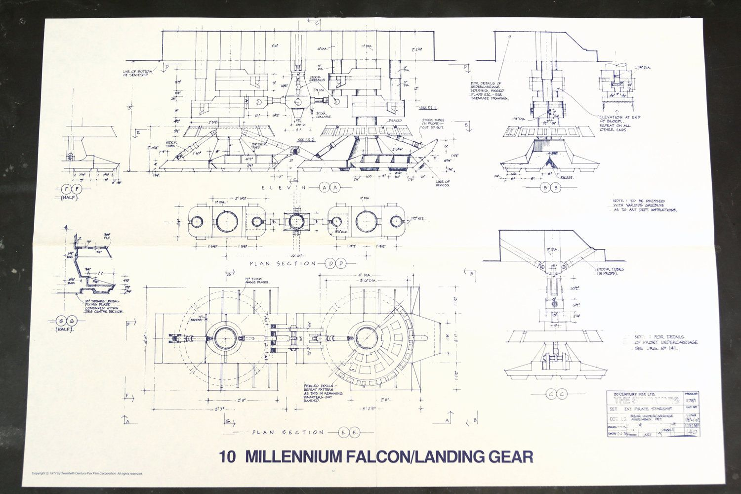 Vintage star wars blueprint for millennium falcon landing gear 10 vintage star wars blueprint for millennium falcon by third shift on etsy malvernweather Images