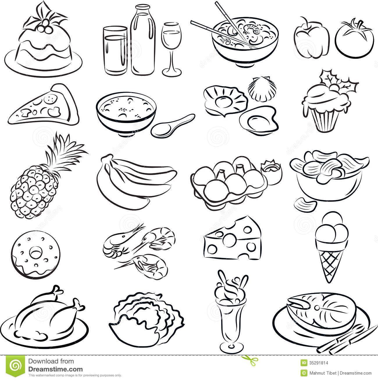 Alimentos Saudaveis Para Colorir Desenhos Para Colorir Imagixs