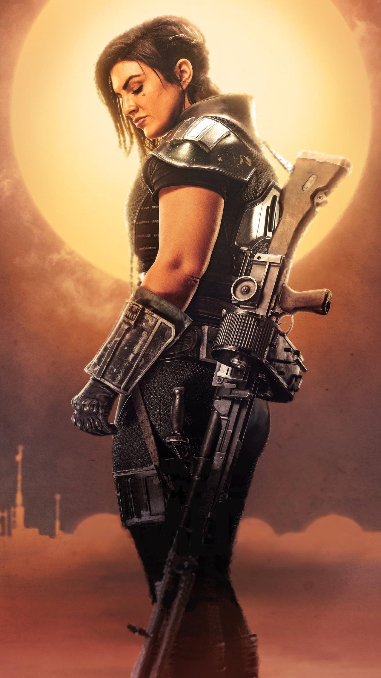 The Mandalorian Phone Wallpaper Moviemania In 2020 Cara Dune Star Wars Images Star Wars Women