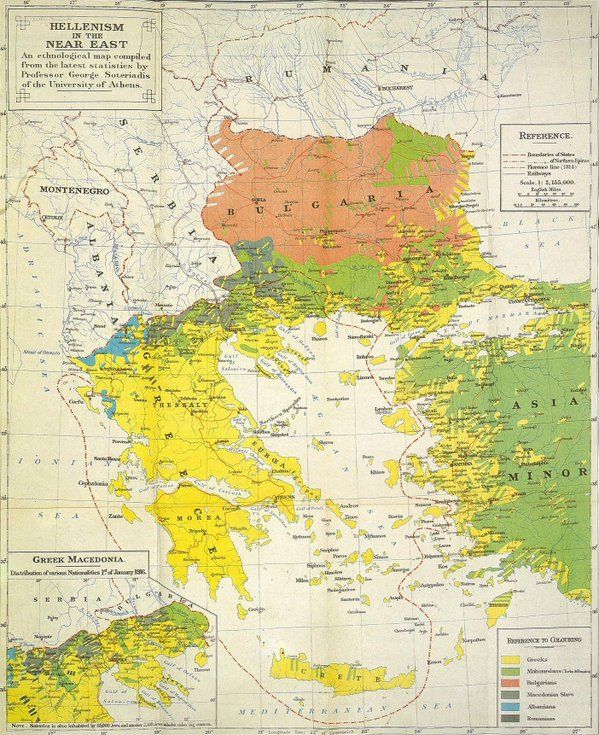 Ethnic Map in Greece, Bulgaria and Western Turkey (1906)   History ...